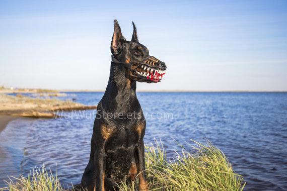 Bozal para perros lobo terrorífico perfecto para Halloween