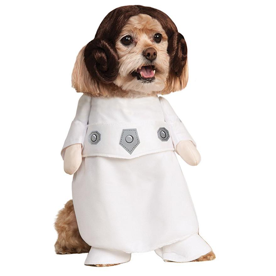 Disfraz de pricesa Leia para perro