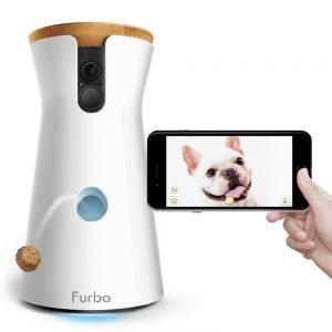Cámara de vigilancia para perros con lanzamiento de golosinas