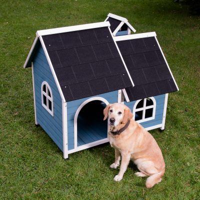 Caseta de madera para perros elegantes