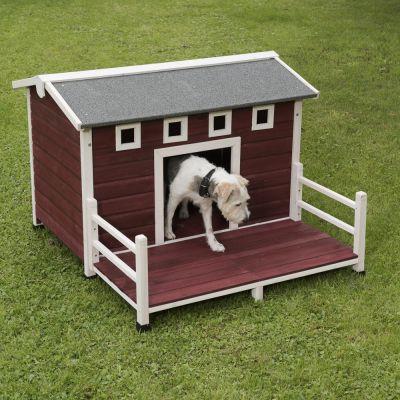 Caseta de madera para perros estilo granja