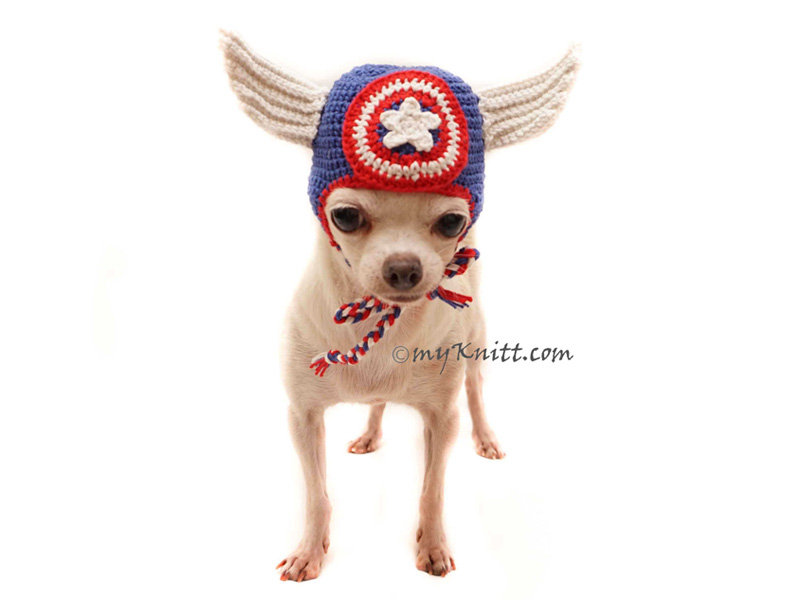 Disfraz para perro de Capitán América de Crochet