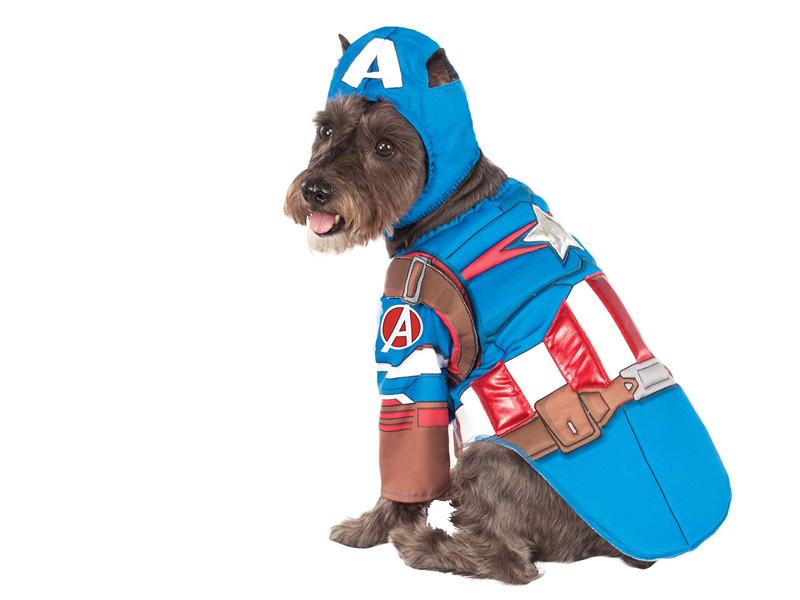 Disfraz para perro de Capitán América