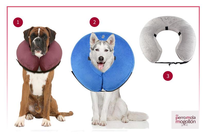 Collar isabelino inflable para perros